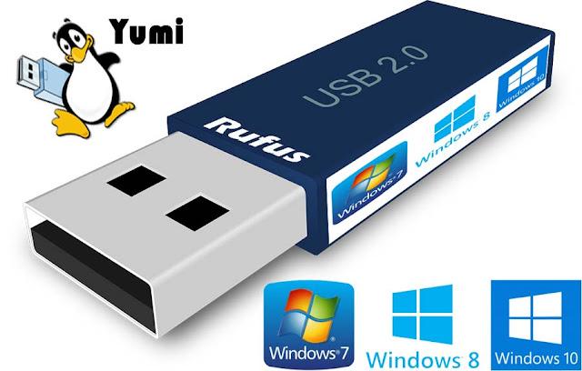 cara membuat instalan windows dengan yumi dan rufus, atau membuat bootable dengan aplikasi yumi danrufus