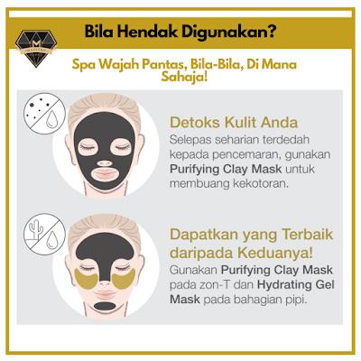 Cara penggunaan Youth Purifying Gel Mask