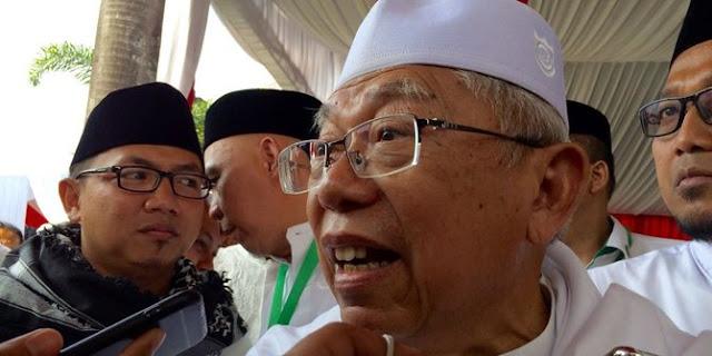 """""""InsyaAllah Jika kami dan Pak Joko Widodo terpilih. InsyaAllah maka akan kita wariskan Indonesia yang maju untuk kalian semua,"""" kata Ma'ruf."""