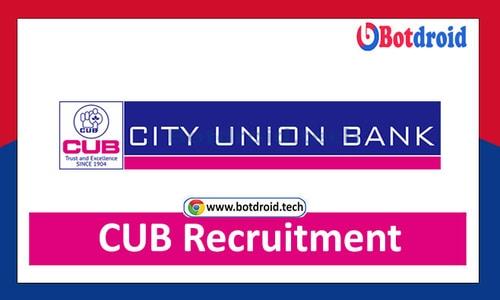 CUB Recruitment 2021, Apply Online for City Union Bank Job Vacancies   CUB Careers