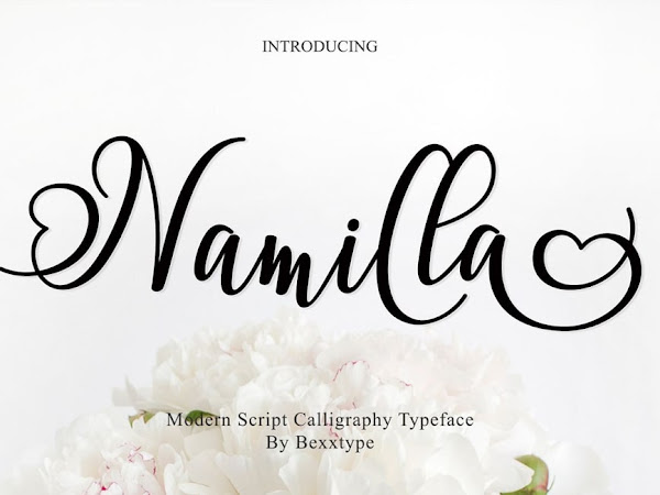 Namilla Script With Hearts