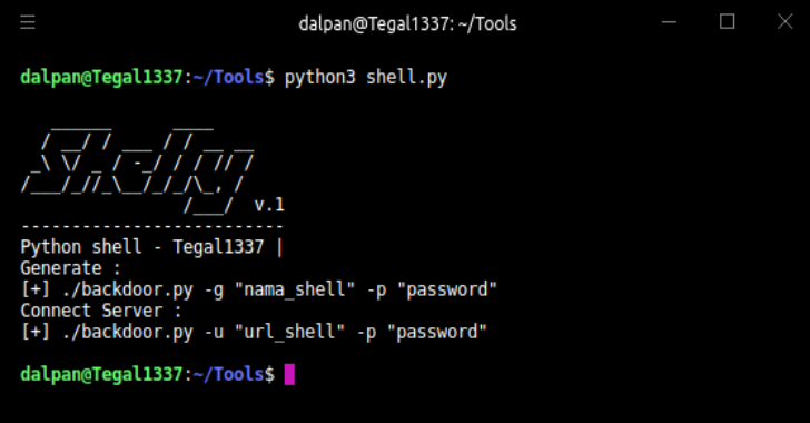 Shelly : Simple Backdoor Manager With Python