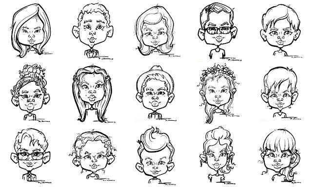 Kids Caricature Live London Children