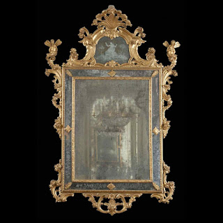 Murano Glass Mirror, 18th Century.