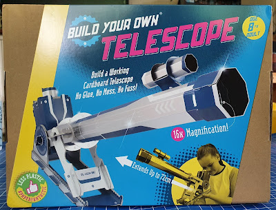 Build Your Own Paper Telescope STEM toy review Age 8+