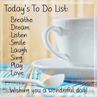 TODAY TO DO LIST!