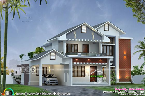 ₹46 lakhs cost estimated modern house 2736 sq-ft
