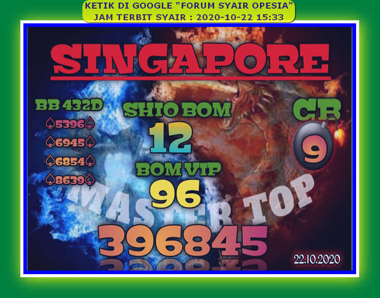 Kode syair Singapore Kamis 22 Oktober 2020 72