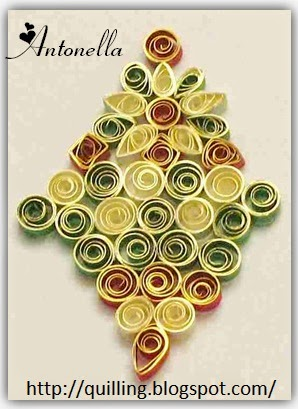 A Quilled Christmas Ornament from Antonella at www.quilling.blogspot.com  #Quilled #Quilling #Ornament #Christmas