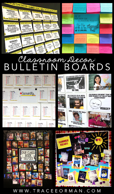 Bulletin board ideas for the secondary classroom  www.traceeorman.com