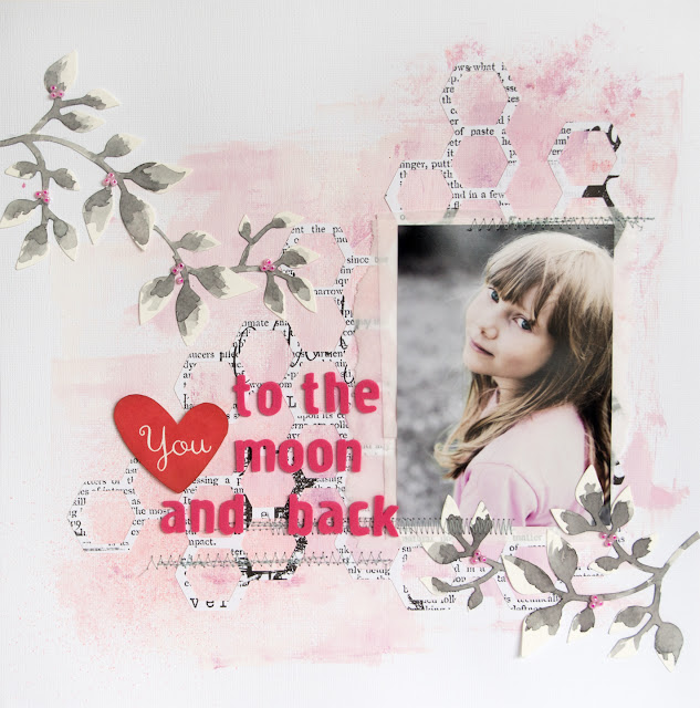 Layout for 123 Get Scrappy September '14: Love You To The Moon And Back