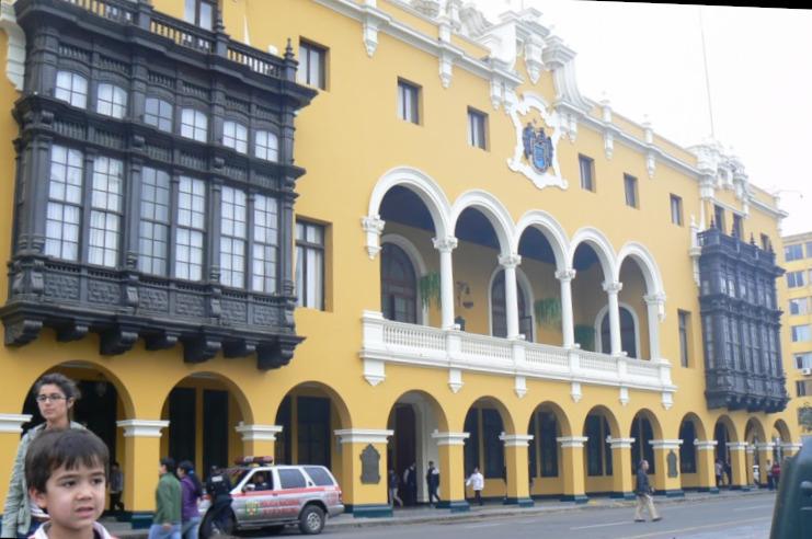 Koloniaal gebouw in Lima in Peru