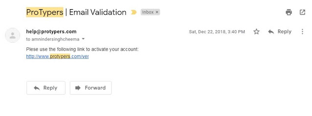 protypers email validation