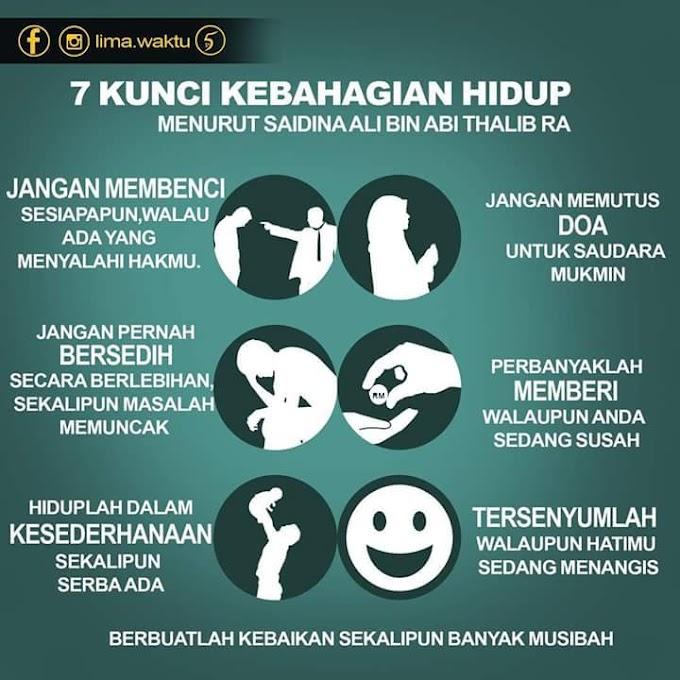 7 Kunci Kebahagiaan Hidup