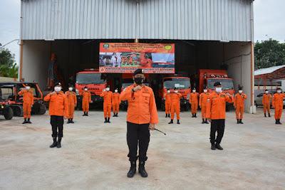 Sambut Libur Nasional dan Cuti Bersama, Basarnas Lampung Gelar Apel Siaga