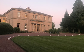 Linden Hall Country House Hotel in Northumberland at sunset