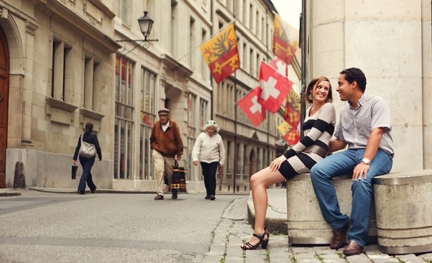 Happy Swiss couple