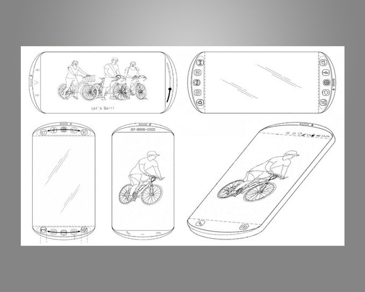هاتف بشاشة ثلاثية وتصميم دائري براءة إختراع من سامسونج