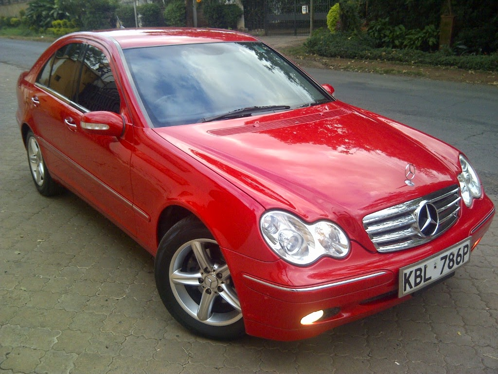 nairobimail mercedes benz c240 2003 model ex japan f loaded red. Black Bedroom Furniture Sets. Home Design Ideas