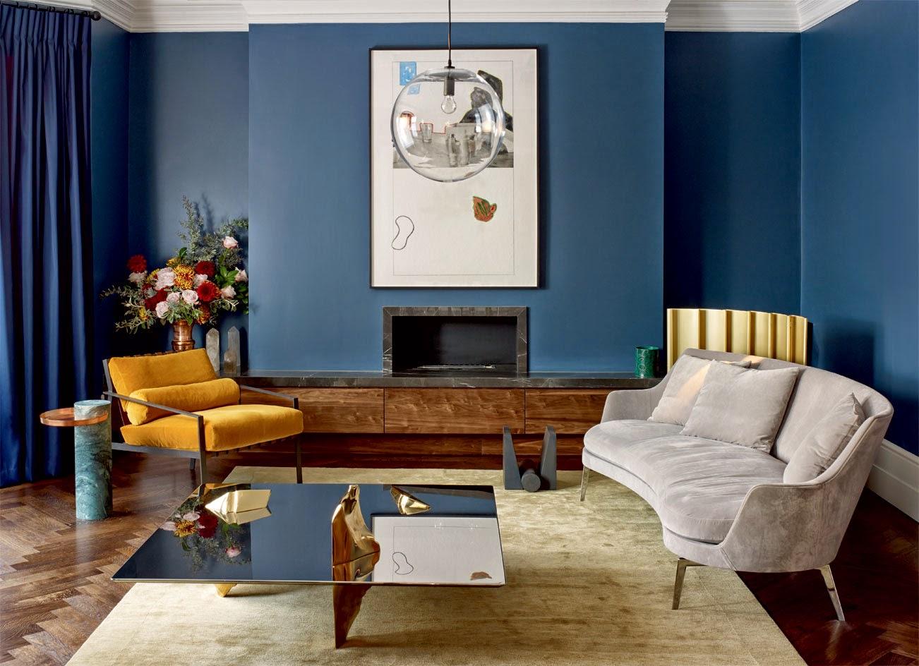 die wohngalerie wallpaper steht auf nachtblau. Black Bedroom Furniture Sets. Home Design Ideas