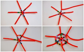 make perler bead snowflake ornaments