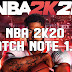 NBA 2K20  PATCH NOTE 1.02