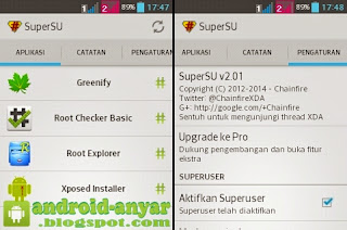 Instal Manual SuperSU di LG L3 E435