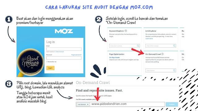 Cara site audit dengan moz.com