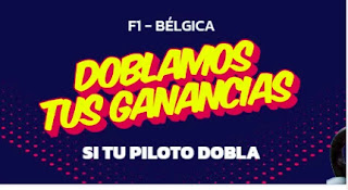 Mondobets promo F1 Belgica 29-8-21