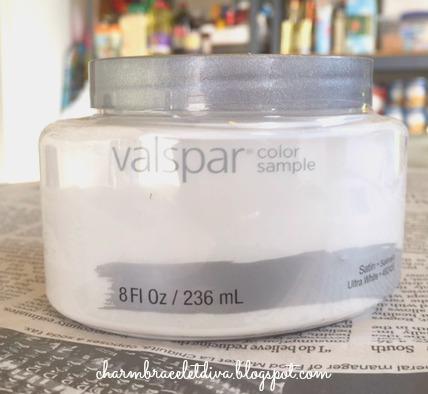 Valspar color sample Ultra White