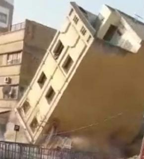 انهيار عمارة سكنية