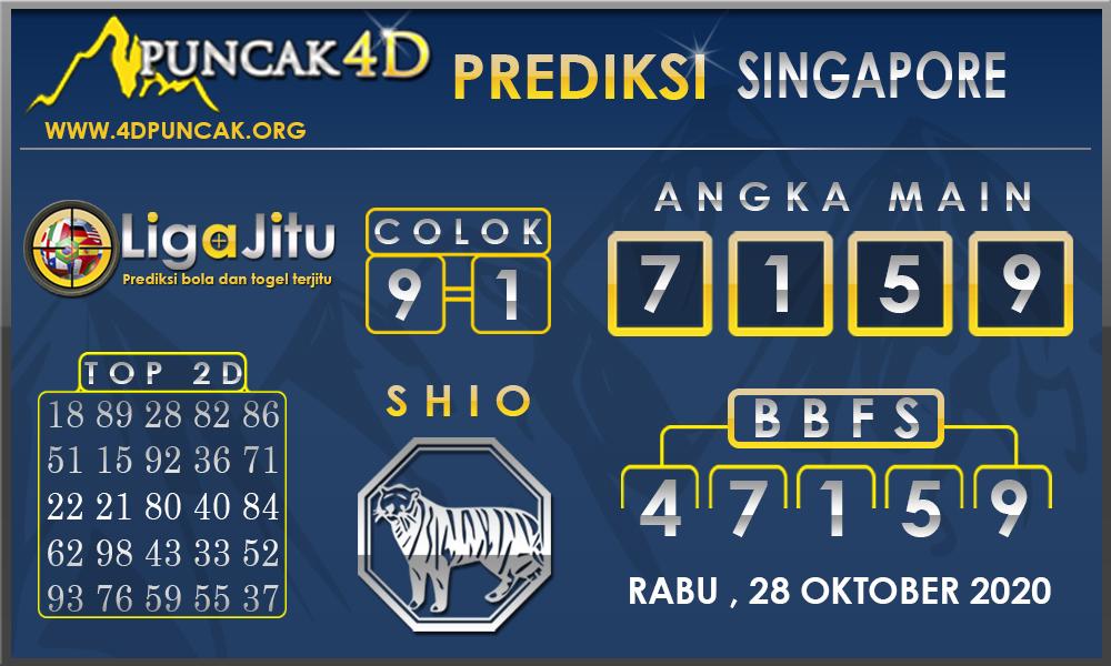 PREDIKSI TOGEL SINGAPORE PUNCAK4D 28 OKTOBER 2020