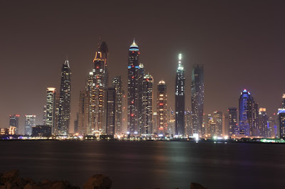 Dubai Skyscrappers night