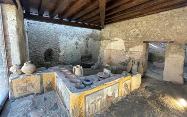 Πομπηία: Επισκέψιμο το θερμοπωλείο που ανακαλύφθηκε στις ανασκαφές του 2019