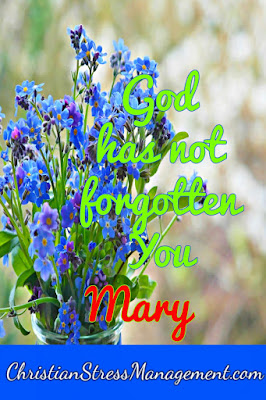 Christian Stress Management God Has Not Forgotten You Mary