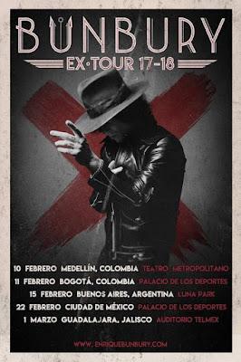 """Enrique Bunbury presentará """"Expectativas"""" en el Luna Park."""