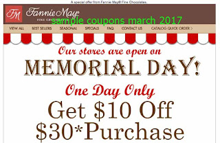 free Fannie May coupons march 2017