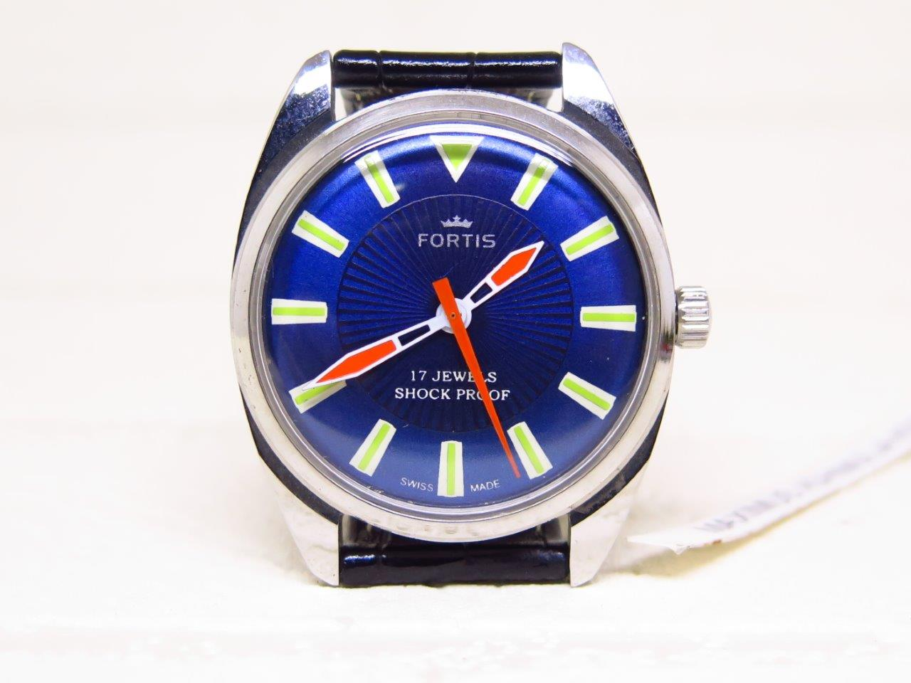 FORTIS BLUE DIAL - MANUAL WINDING