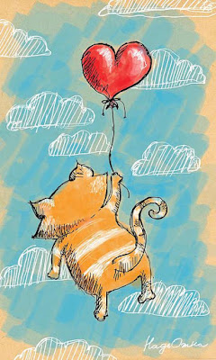 cat and balloon illustration