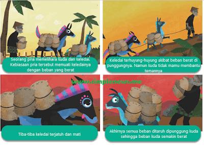 dongeng Kuda dan Keledai yang Sarat dengan Beban