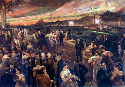 """""""O Último Baile (da Ilha Fiscal)"""" (1905), pintura de Aurélio de Figueiredo (1854-1916) pertencente ao acervo do Museu Histórico Nacional, no Rio de Janeiro."""