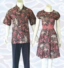 Model Busana Batik Blouse Couple terbaru