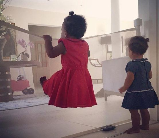 Mike Obi's girlfriend shares adorable photos of their twin daughters