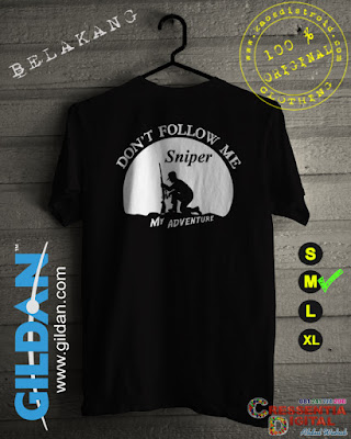 Baju Kaos Distro SNIPER Adventure Warna Hitam