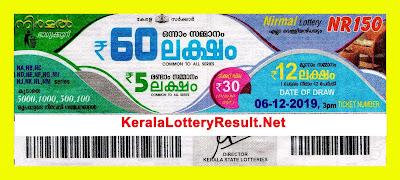 kerala lottery result 06-12-2019 Nirmal Lottery NR 150 (keralalotteryresult.net)