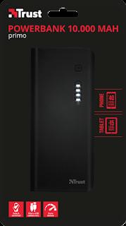 trust urban caricabatteria portatile powerbank 10000mah 22751