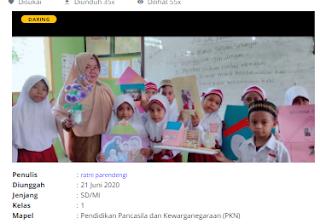 Download RPP Daring PKN Kelas 1 SD