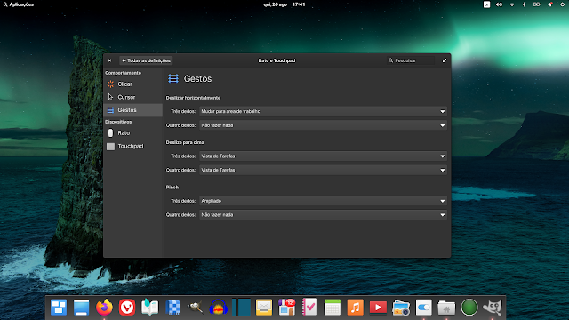 Touchpad agora com gestos com do macOS no Elementary OS 6