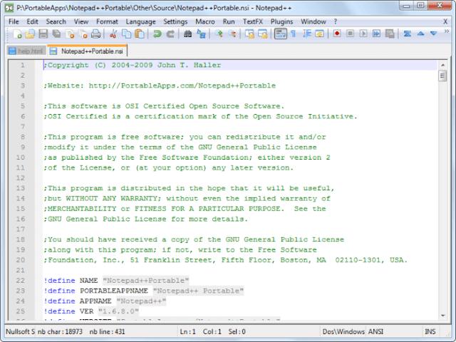تحرير وإنشاء النصوص البرمجية