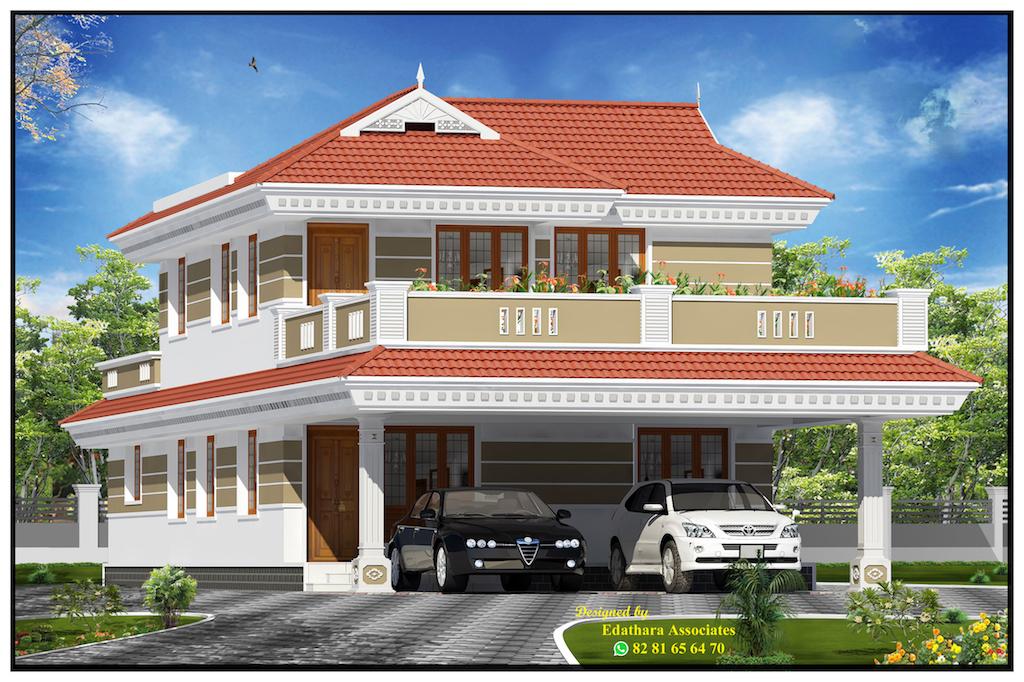 2062 Sq Ft Modern Double Floor Kerala Home
